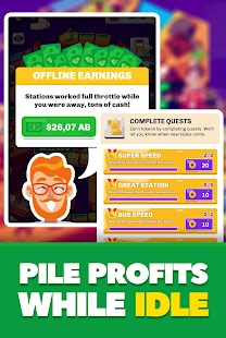 Idle Train Station Tycoon : Money Clicker Inc. Screenshot