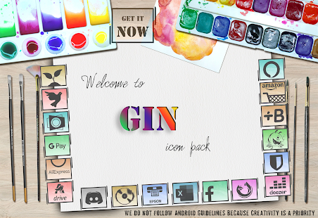 GIN Icon Pack - Get It Now Screenshot