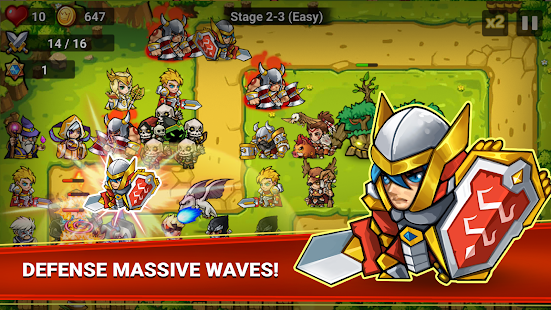 Defense Heroes Premium: Defender War Tower Defense Screenshot