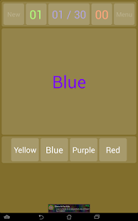 Stroop Effect Test: Challenge and Test your Brain Screenshot