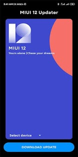 MIUI 12 Updater Screenshot