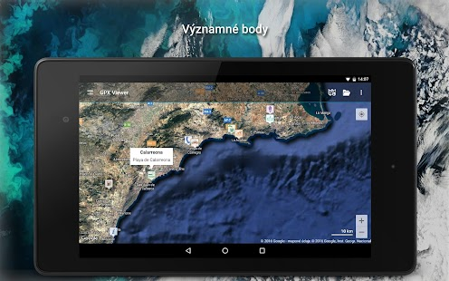 GPX Viewer - Trasy, cesty a významné body Screenshot