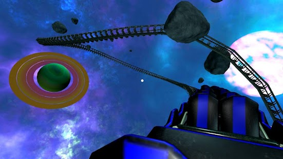 Intergalactic Space Virtual Reality Roller Coaster Screenshot