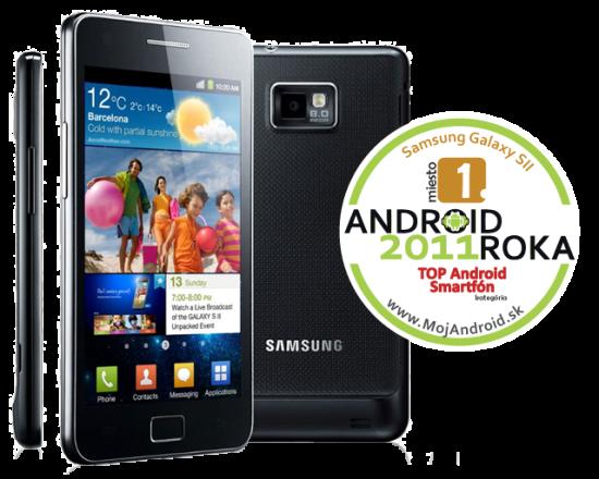 Samsung Galaxy SII - Android Roka 2011 - 1. miesto v kategórii TOP Android smartfón
