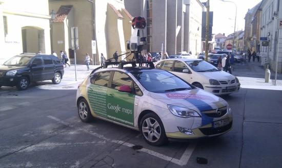 Google auto StreetView Presov