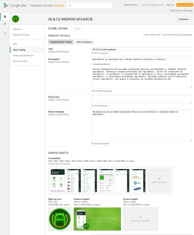 Google play aktualizovan developersk konzola vysk ajte - Android developer console ...