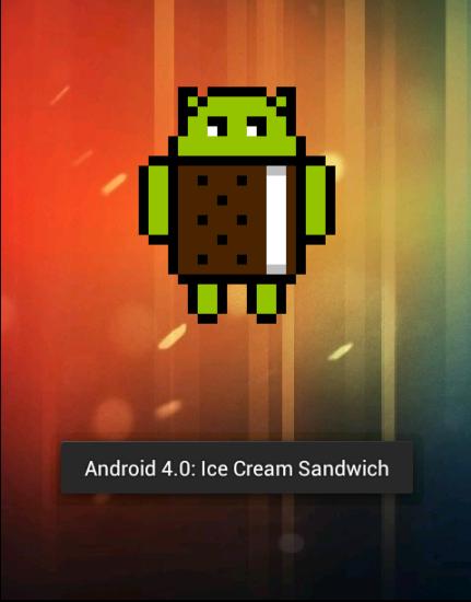 Easteregg v systéme Android Ice Cream Sandwich