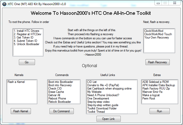 HTC One root, recovery, bootloader