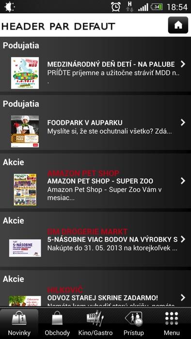79cf674b33 Aupark  Aplikácia nákupného centra v Bratislave - MojAndroid.sk