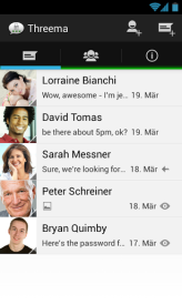 Threema Android aplikacie