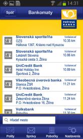 Posta a banka Android aplikacie 2