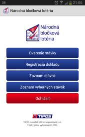 Tipos Národná bločková lotéria a