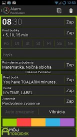 Alarm Revolution slovenska Android aplikacia