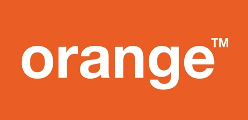 Orange logo ploché