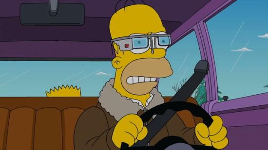 Simpsonovci Google Glass