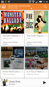 Hudba Google Play b