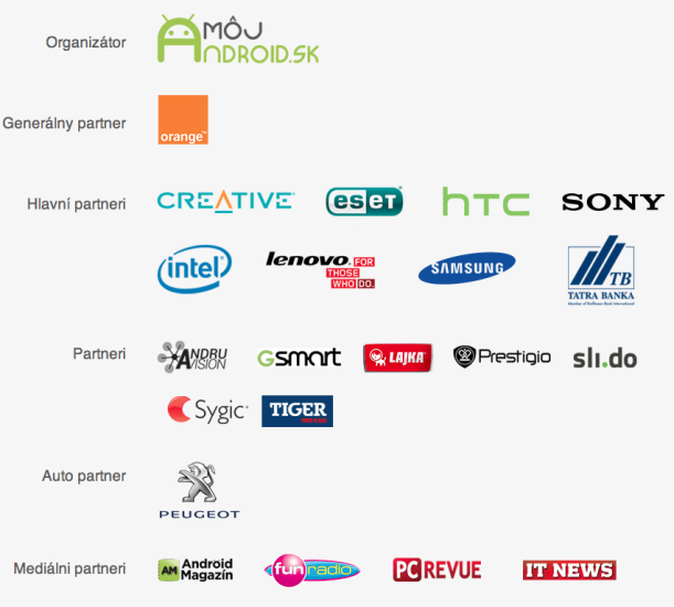 Android Roadshow 2014: partneri akcie