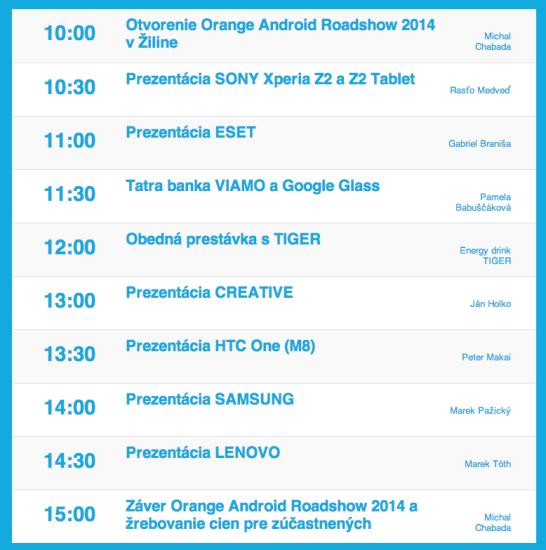 AndroidRoadshowZA-program