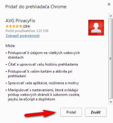 PrivacyFix návod 2