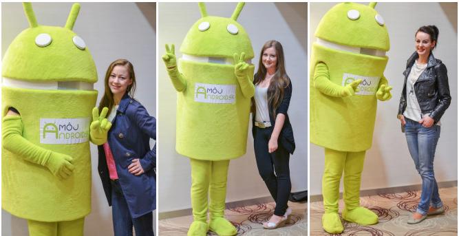 Niektoré z dievčat, ktoré sa zapojili v Košiciach. Všetky nájdeš na www.androidroadshow.sk