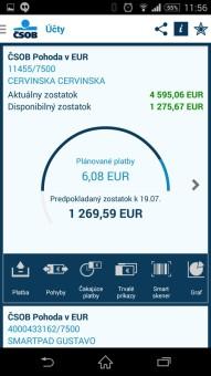 bankové aplikacie-CSOB SmartBanking-3