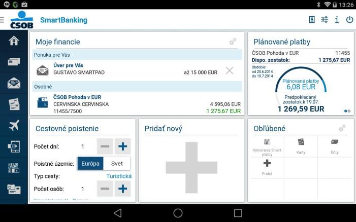 bankové aplikacie-CSOB SmartBanking-tablet-1