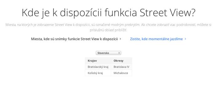 slovensko streetview