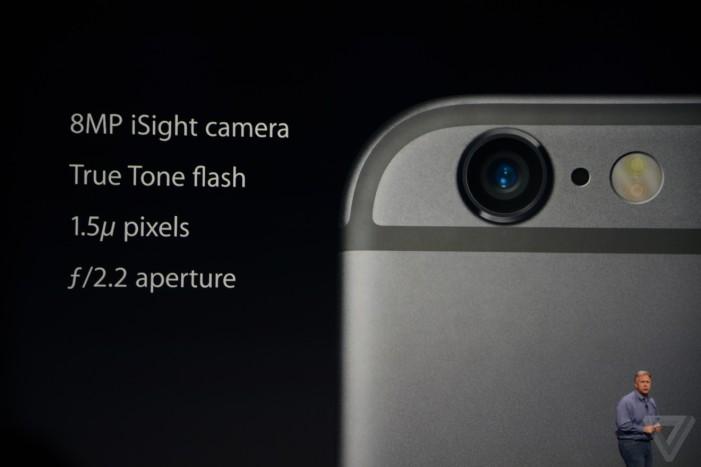 iPhone 6 fotoaparát