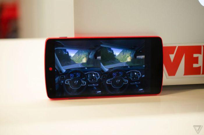 Nexus 5 s aplikáciou od Volvo