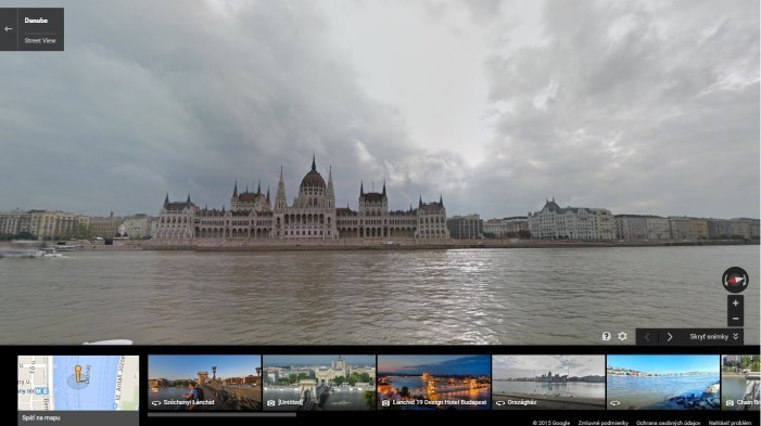 Street View_budova parlamentu_Budapest