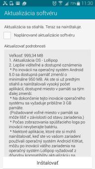 Samsung Galaxy Note 4 dostáva Android 5.0 Lollipop na Slovensku
