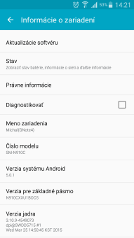 Samsung Galaxy Note 4 dostáva Android 5.0 Lollipop na Slovensku!