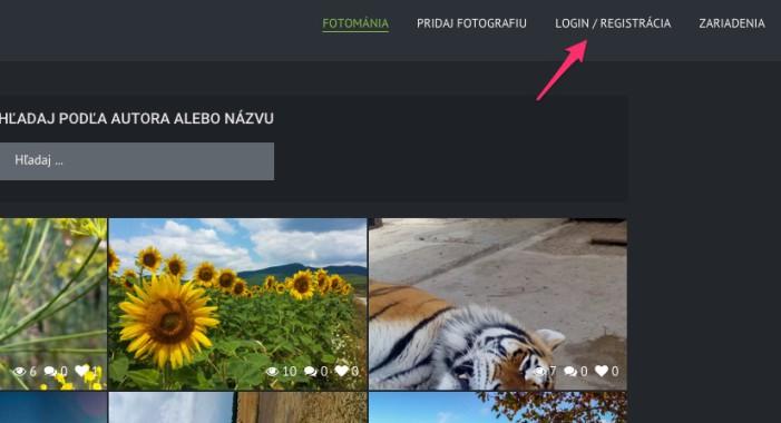 fotomania login-registracia