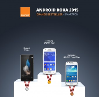 Android Roka 2015 - orange smartfon
