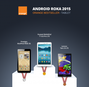 Android Roka 2015 - orange tablet