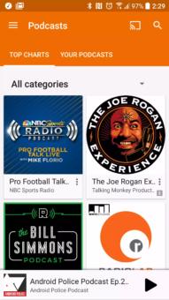 Hudba Google Play Podcasty 1