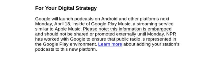 Hudba Google Play podcasty mail