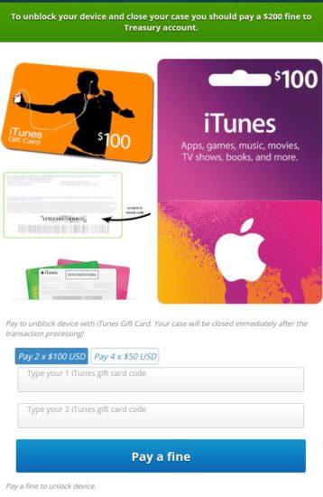 Vírus od používateľov žiada zaplatenie kreditu na iTunes.