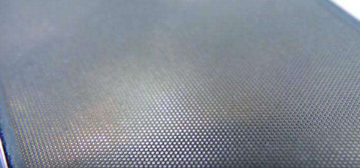 Pohľad na štruktúru HoloFlex displeja