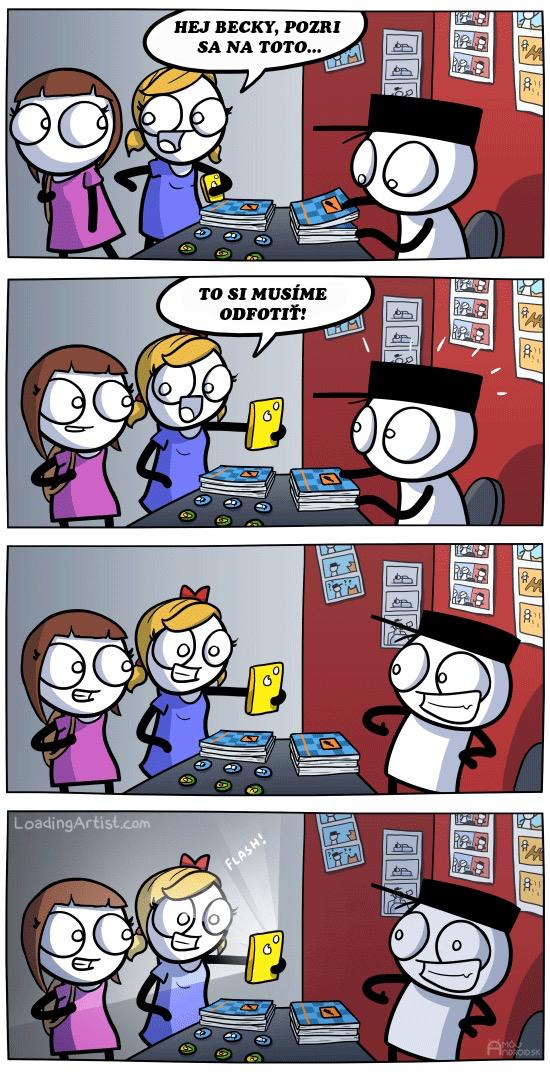 komiks-selfie