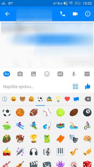 Facebook Messenger futbal-