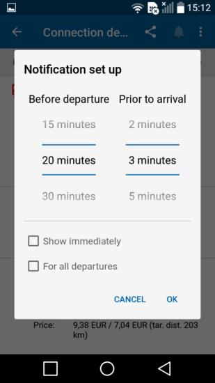 Aplikácia Cestovné poriadky