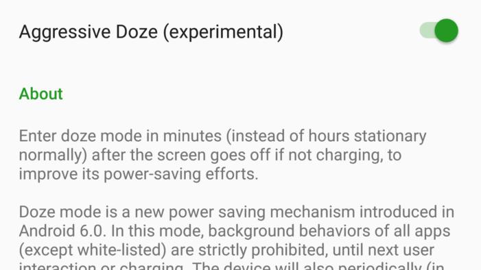 Greenify Aggressive Doze