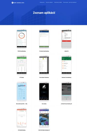 Zoznam prihlásených aplikácií Smart Banka 2016