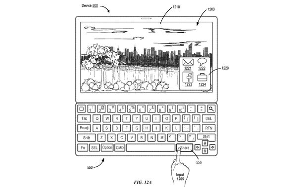 Apple klavesnica patent 1