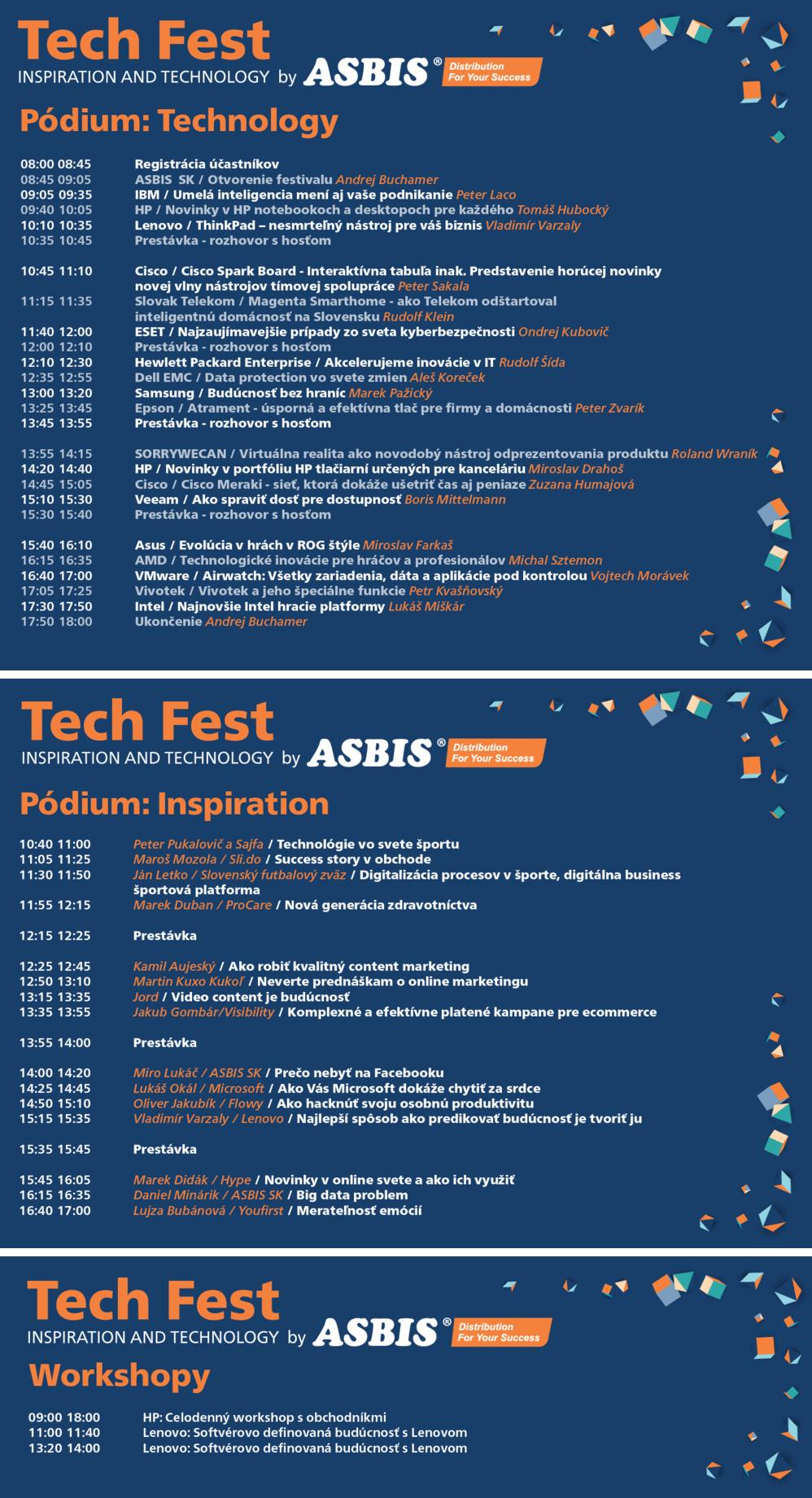 Portál MojAndroid.sk ako mediálny partner prináša možnosť získať vstupenku  na Tech Fest by ASBIS úplne zadarmo. Stačí sa na akciu zaregistrovať a  zadať ... 5e35c382de4