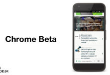 Chrome Beta lista dole