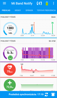 Notify & Fitness for Mi Band - Prehľad 1/2