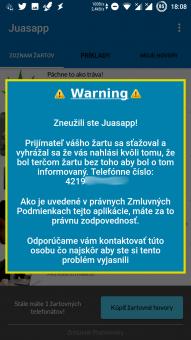 Juasapp - Zneužitie aplikácie