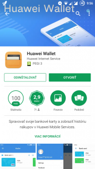 Huawei Wallet v Obchode Play